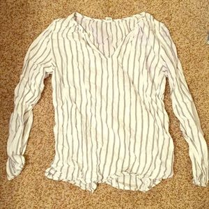 Old Navy Stripped Black and White Blouse
